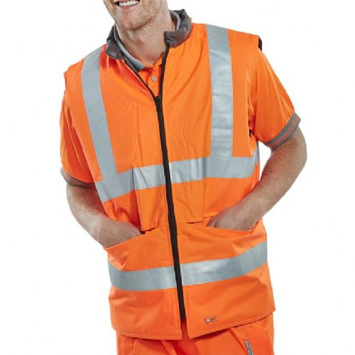 BSeen Orange Hi Vis Reversible Bodywarmer